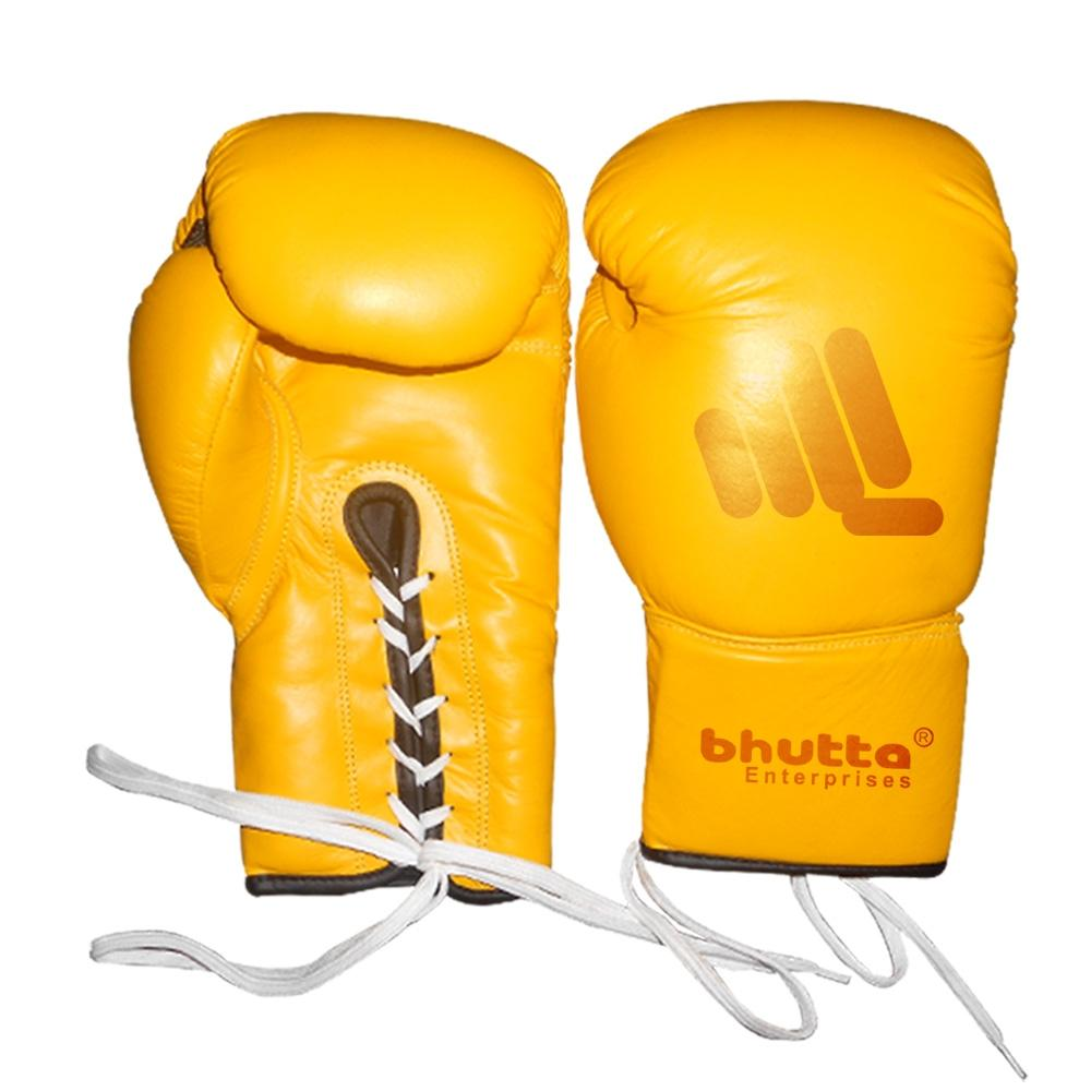 <p>Boxing Gloves Made of Cow hide Leather inside high density machine mold Velcro closing strap. Size 10,12,14,16-oz Color As per Customer demand.</p>