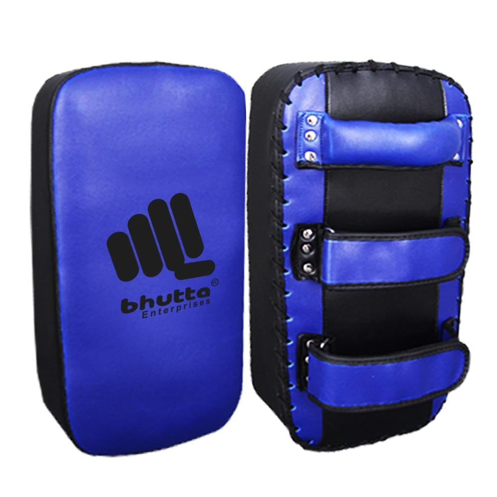 <p>Kick Pads / Thai Pads Made Of Artificial Leather Filled With Hi-density Foam Padding. Also available in PVC BAREX. Available with buckles or velcro straps. <br />