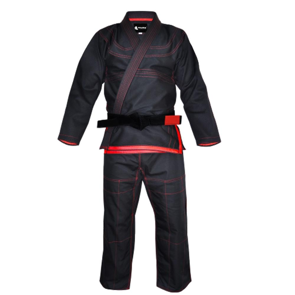<p>BJJ Suits 100% cotton Breathable and durable fabric for heavy usage and  comfort. Reinforced shoulder, collar, sleeve and knee seams, ensuring  strength and durability.</p>