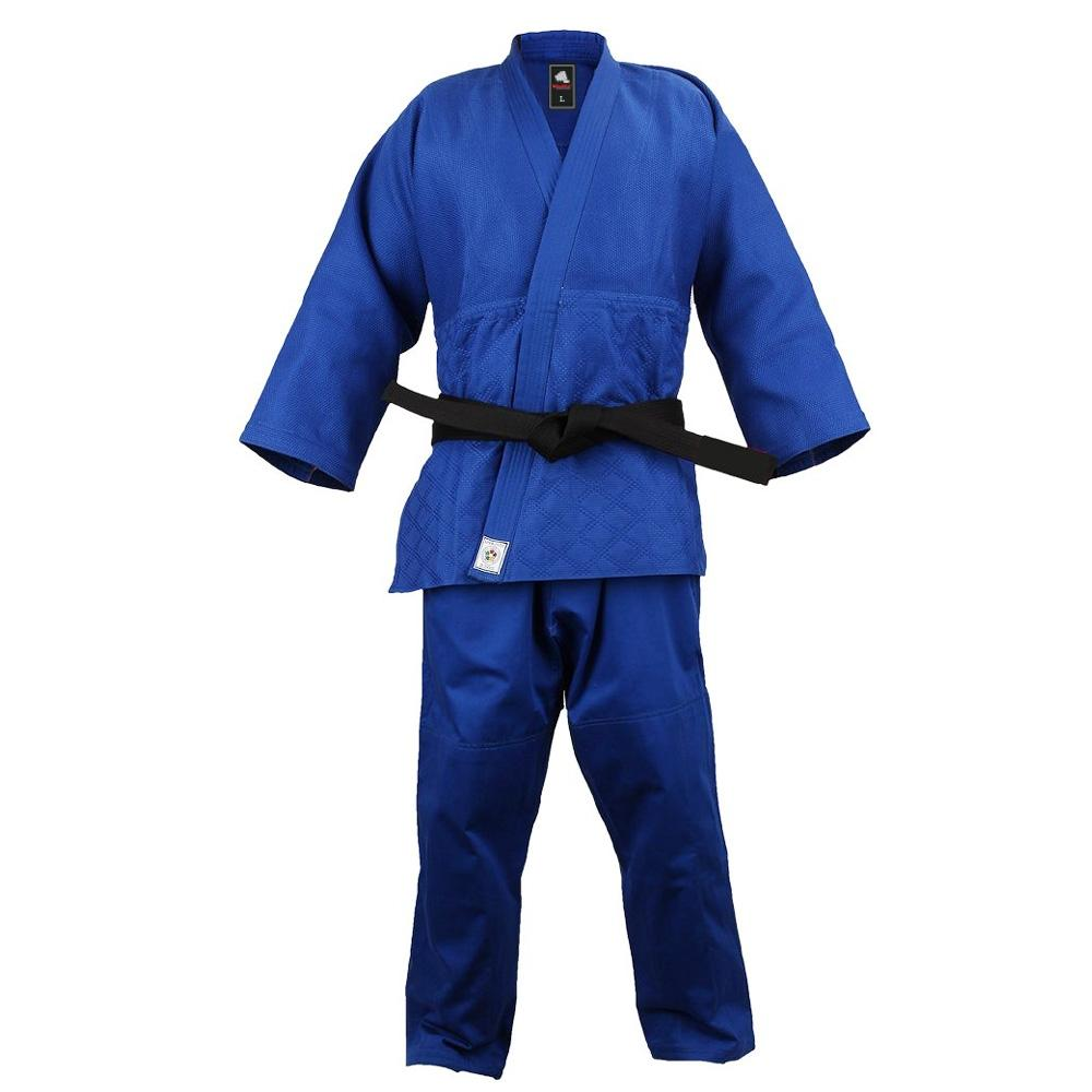 <p>IJF JUDO UNIFORM Officially approved and homologated from the International Judo Federation (IJF). JUDO UNIFORM made of 16 oz. 100% Cotton, padded, back stitched and the seams are secured. JUDO UNIFORM Complete set includes Jacket and Pants. Regular Shrinkage and Excellent fit.</p>