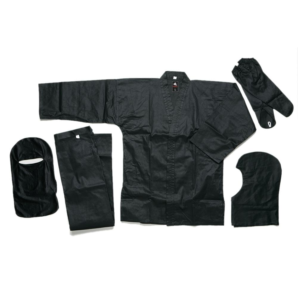 <p>Ninja uniform is made of 100% cotton for optimum stealth and comfort. The uniform comes complete with traditional pants, jacket, hand<br />