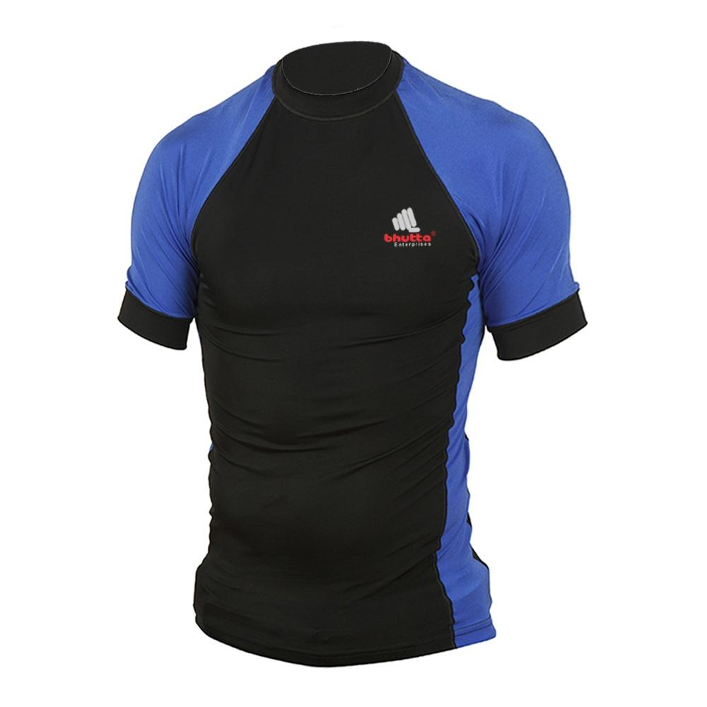 <p>Rash Guard T-Shirt is made of 100% Laycra, Rash Guard is a no frills piece of surf armor that blocks irritation and sunburn so you can keep battling the waves. <br />